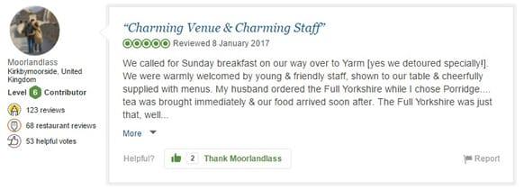 Charming Venue &  Charming Staff
